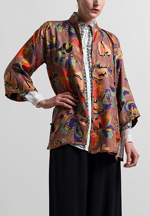 Etro Reversible Jacket in Gold/ Purple