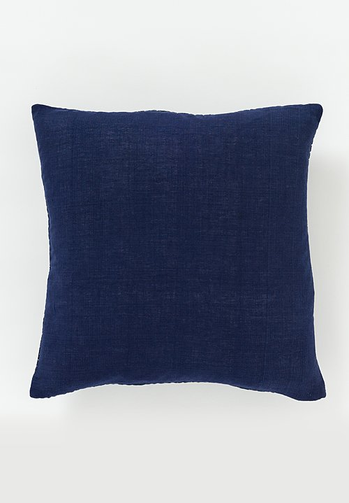 Neeru Kumar Kantha Square Pillow in Navy