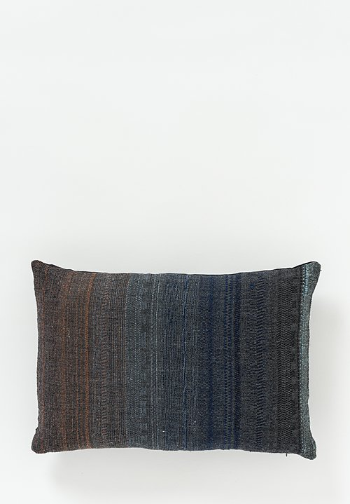Neeru Kumar Wool / Silk Lumbar Pillow in Midnight