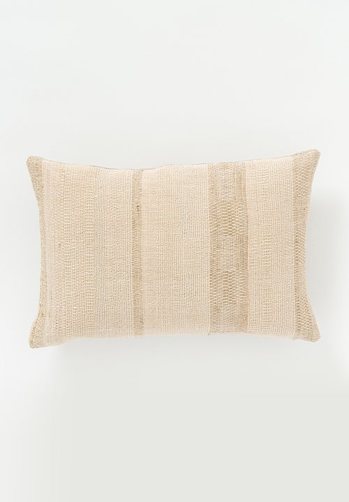 Neeru Kumar Linen / Silk Lumbar Pillow in Natural