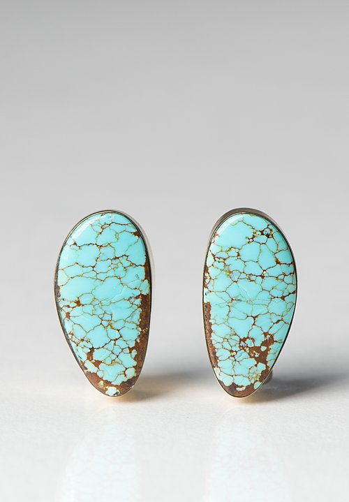 Greig Porter 18K, Turquoise Posts
