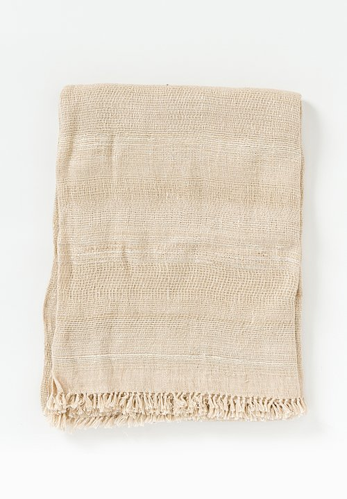 Neeru Kumar Linen/ Silk Fringe Throw