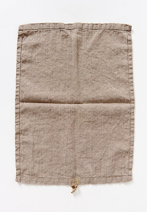 Aqua Vireo Naturally Dyed Hand Towel in Linen Vera
