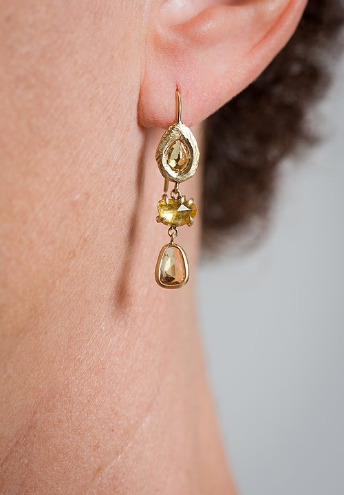 Page Sargisson 18K, Yellow Sapphire Drop Earrings