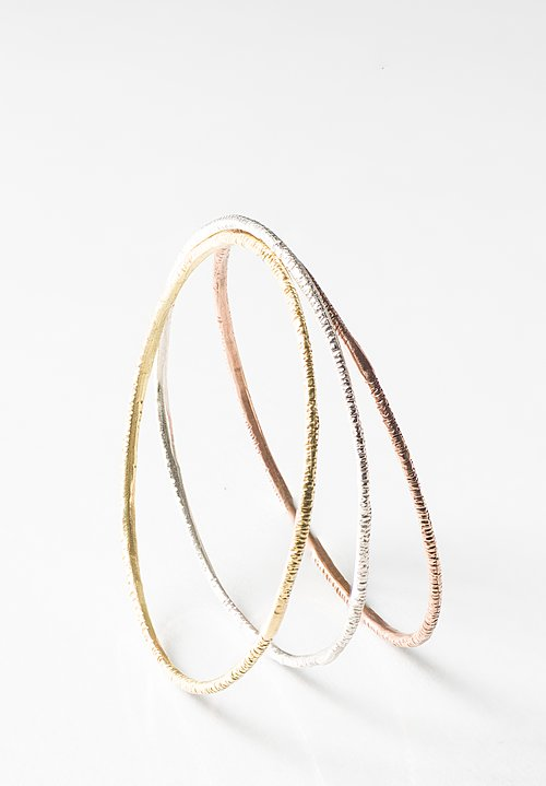 Page Sargisson Set of 3 18K, Rose Gold, Sterling Bangles