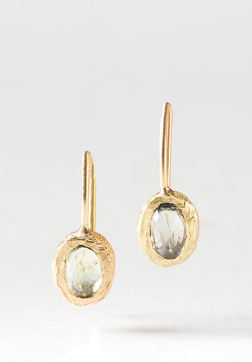 Page Sargisson 18K, Light Sapphire Fixed Hook Earrings