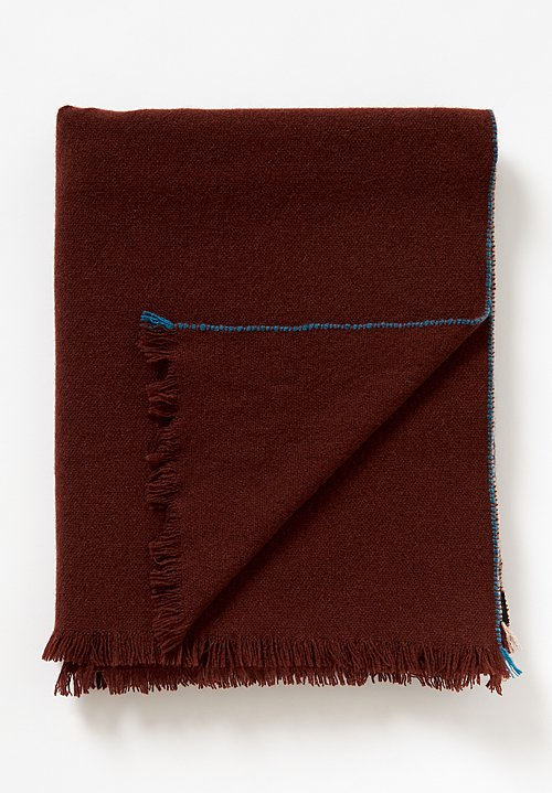 Teixidors Cashmere Jazz Throw in Dark Copper