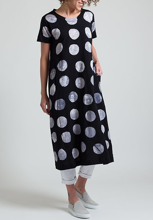 Gilda Midani Maria Dress in Pois Black & White