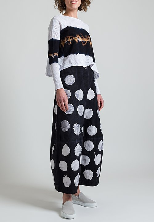 Gilda Midani Eggs Pants in Pois Black & White