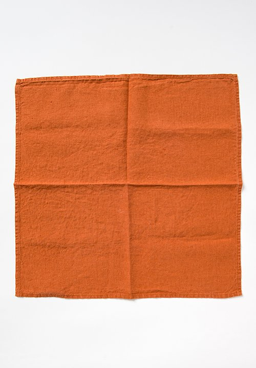 Linge Particulier Set of 6 Linen Table Napkins in Sienna
