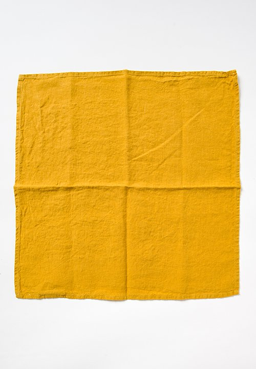 Linge Particulier Set of 6 Linen Table Napkins in Honey