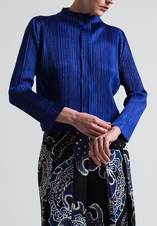 Issey Miyake Pleats Please Glaring Night Top in Purple