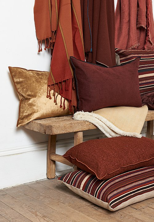 Umrao Wool Twisted Tassel Throw in Red Multi