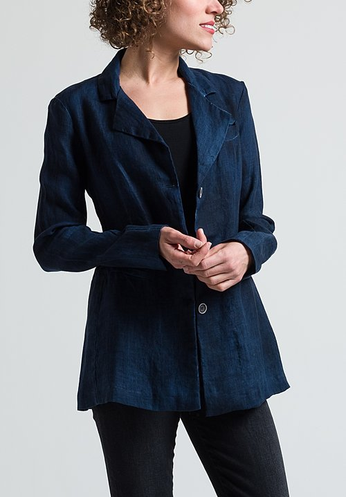 Avant Toi True Hemp Blazer in Blu Navy