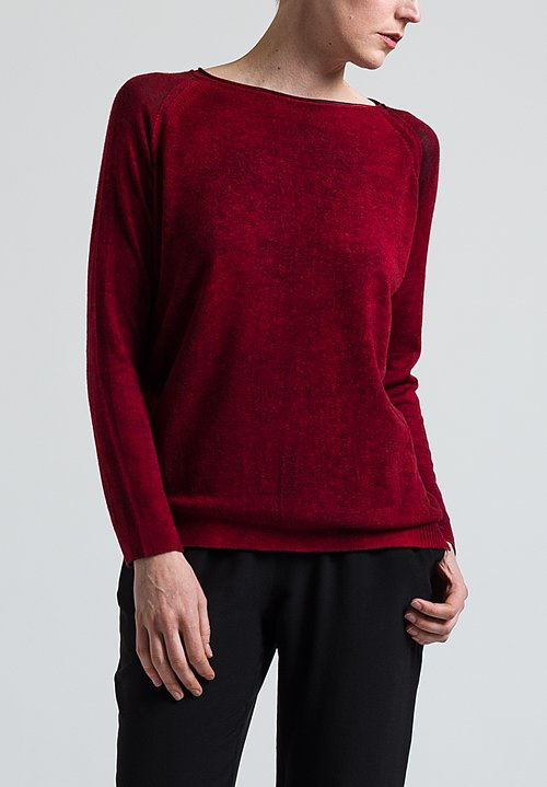 Avant Toi Lightweight Sweater in Melograna