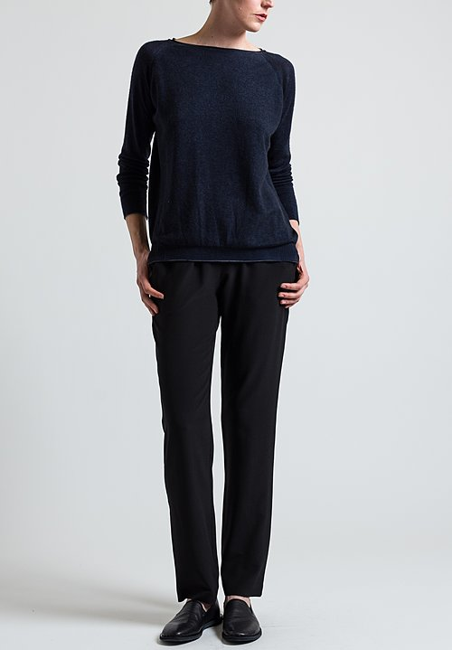 Avant Toi Lightweight Sweater in Blu Navy