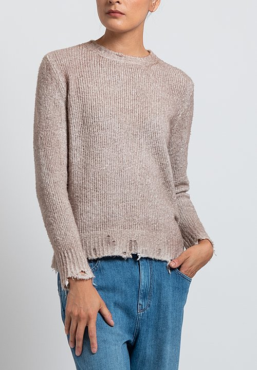 Avant Toi Destroyed Knit in Pink