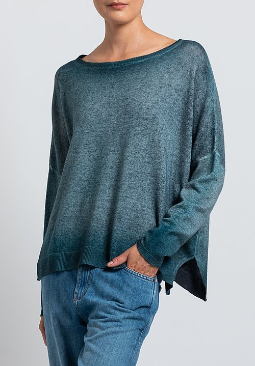 Avant Toi Relaxed Lightweight Sweater in Green