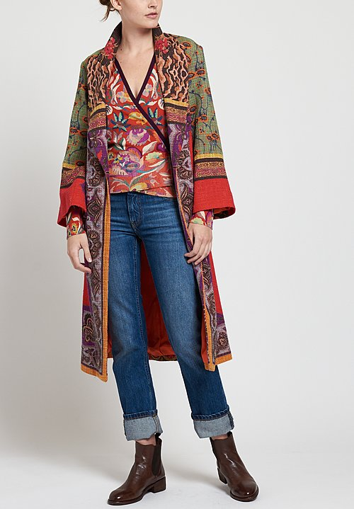 Etro Tie Wrap Cardigan in Scarlet