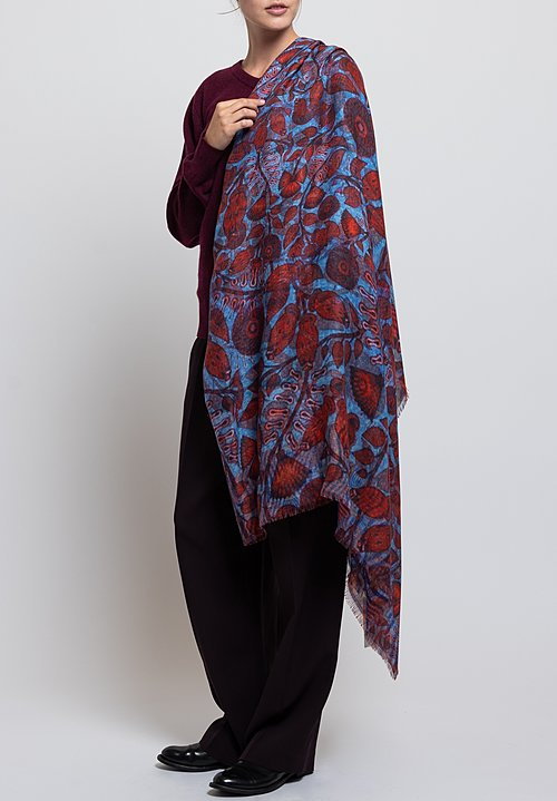 Alonpi Cashmere Printed Scarf in Giuba Multi