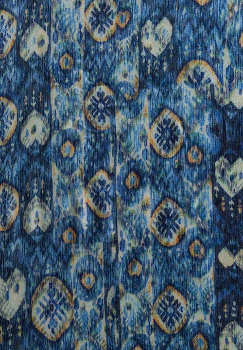 Alonpi Cashmere Printed Scarf in Giacarta Blue