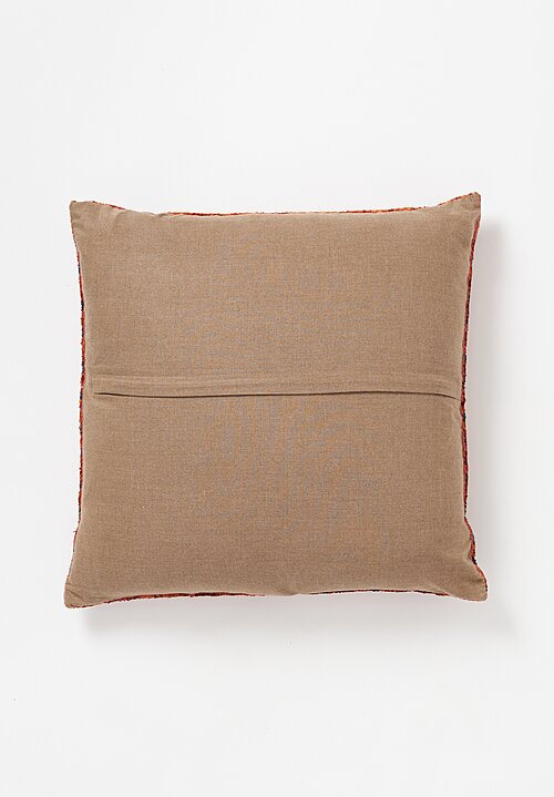 Tibet Home Hand Knotted & Woven Square Pillow in Rainbow Khorlo