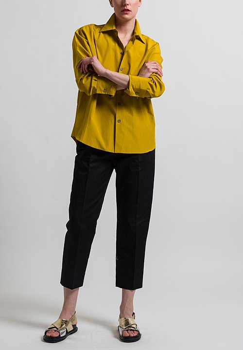 Marni Poplin Button-Down Shirt in Sunflower