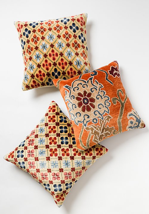 Tibet Hand Knotted & Woven Square Pillow in Linga
