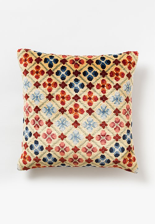 Tibet Home Hand Knotted & Woven Square Pillow in Linga