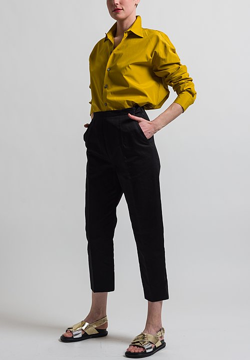 Marni Creased Drill Pants in Black