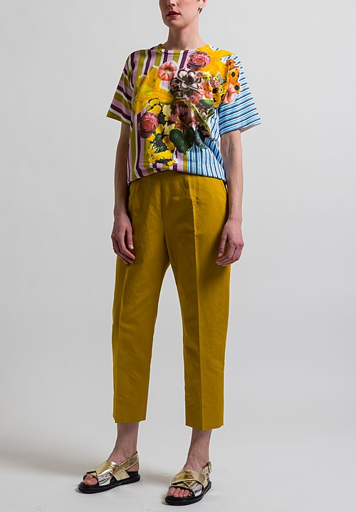 Marni Creased Drill Pants in Sunflower