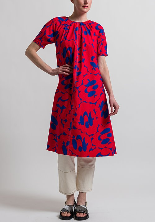 Marni Belou Print Dress in Red