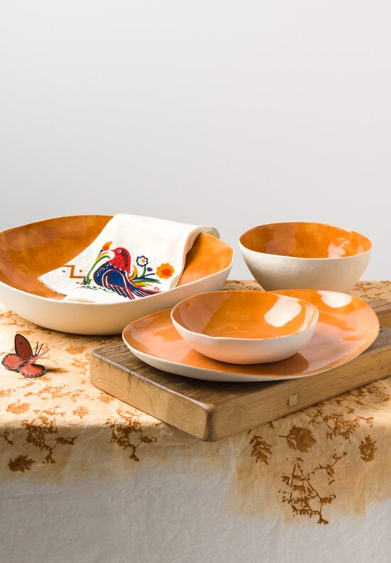 Bertozzi Large Porcelain Serving Bowl in Orange