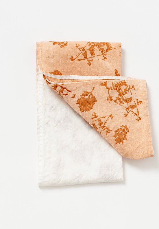 Bertozzi Handmade Crumpled Linen Two-Tone Kitchen Towel