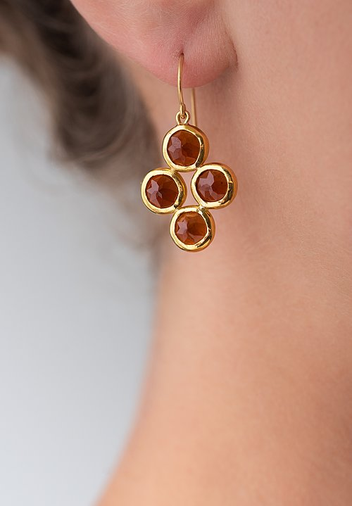 Greig Porter 22K, Garnet Earrings