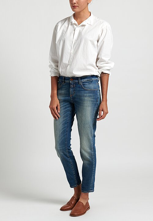 Closed Baker Narrow Cropped Jeans in Mid Blue