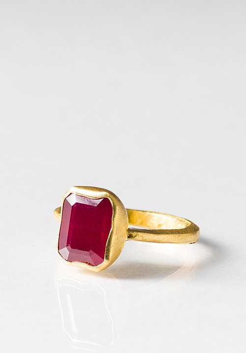 Greig Porter 22K, Rectangle Ruby Ring