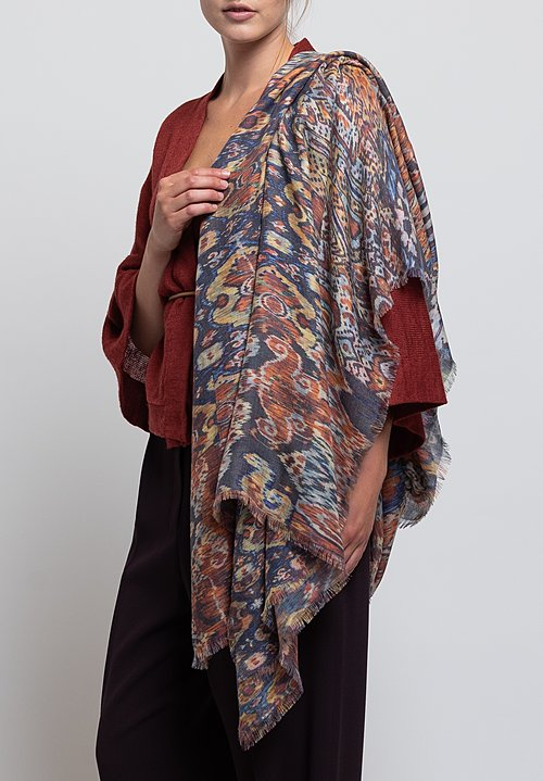 Alonpi Cashmere Printed Scarf in Manama Multi