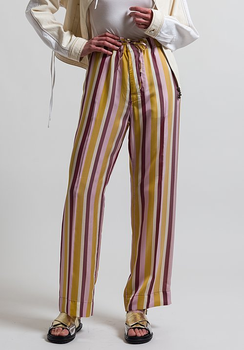 Marni Striped Twill Pants in Gold