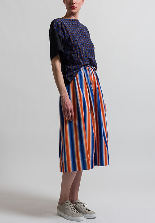 Marni Degrade Stripe Skirt in Alkekengi