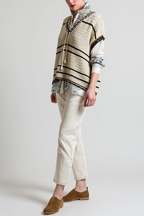 Etro Loose Knit Top in Ivory