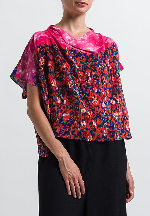 Anntian Simple Top in Print Y