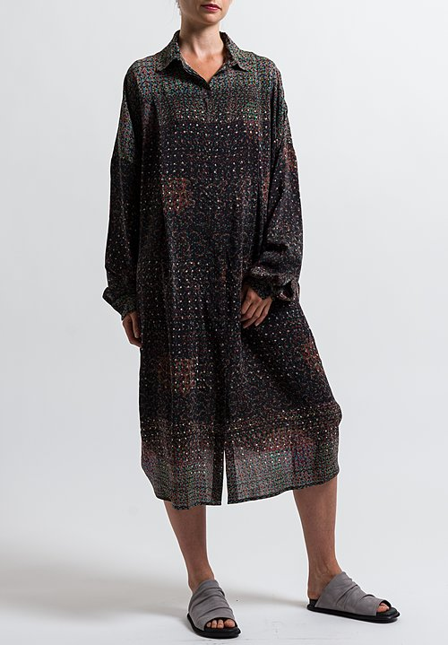 Anntian Shirt Dress in Print Q