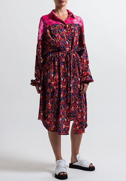 Anntian Shirt Dress in Print Y