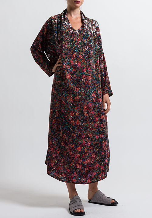 Anntian Shawl Dress in Print X