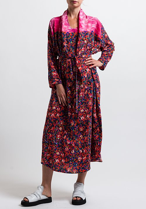 Anntian Shawl Dress in Print Y
