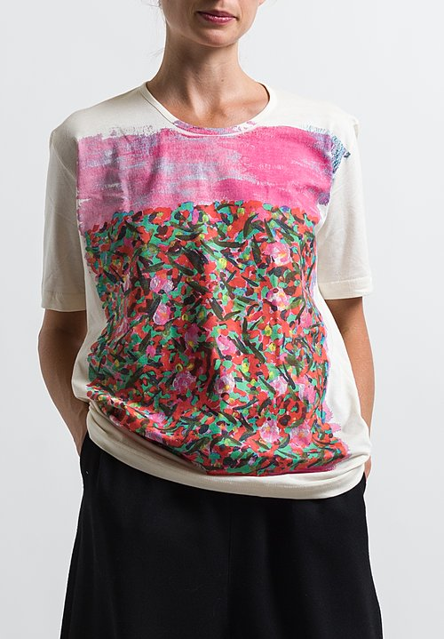Anntian Printed T-Shirt in Pink Flowers
