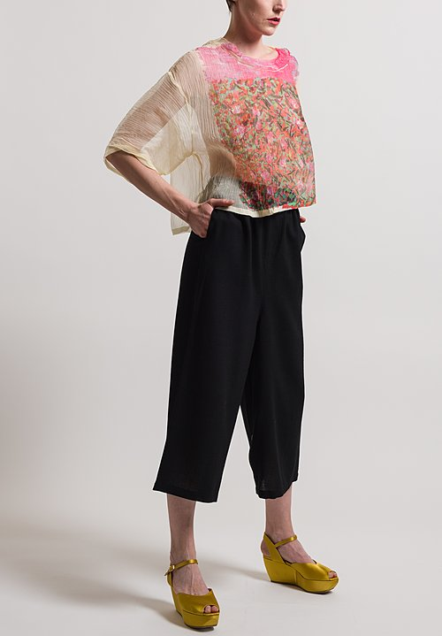 Anntian Wool Straight Pants in Black