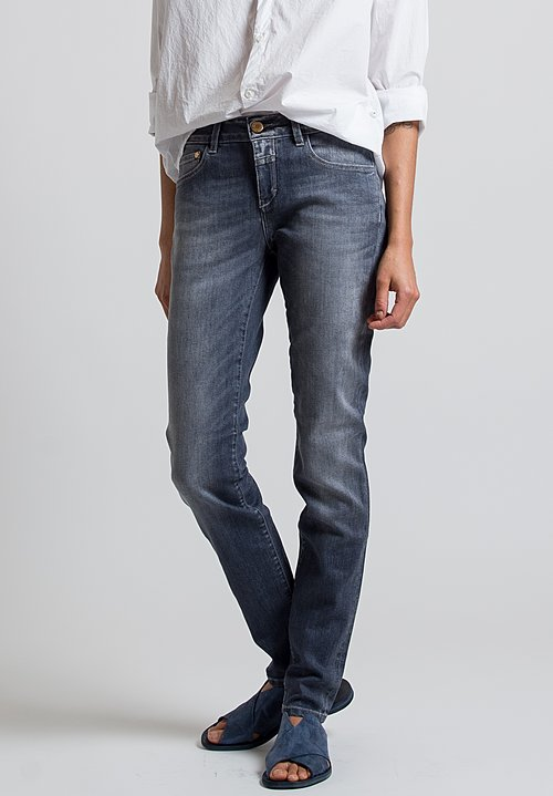 Closed Baker Long Narrow Jeans in Mid Grey