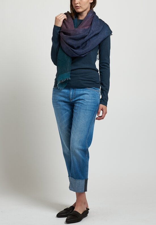 Brunello Cucinelli Monili Cropped Jeans in Medium Blue